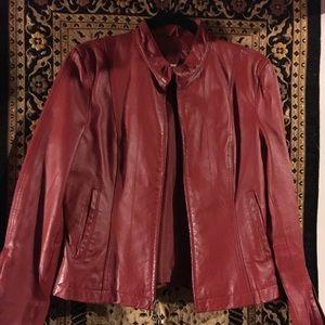 Wilson's red leather biker jacket